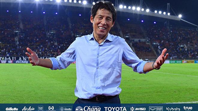 HLV Nishino chưa biết thua khi dẫn dắt Thái Lan