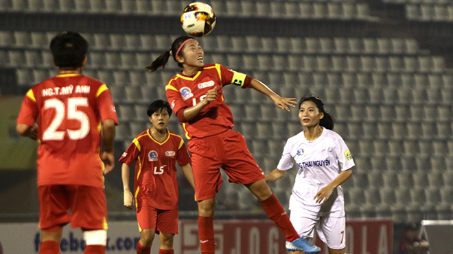 Huỳnh Như cũng tương tự đang rất khó tìm đối thủ cạnh tranh ở giải Quả bóng vàng của nữ. Ảnh: PH