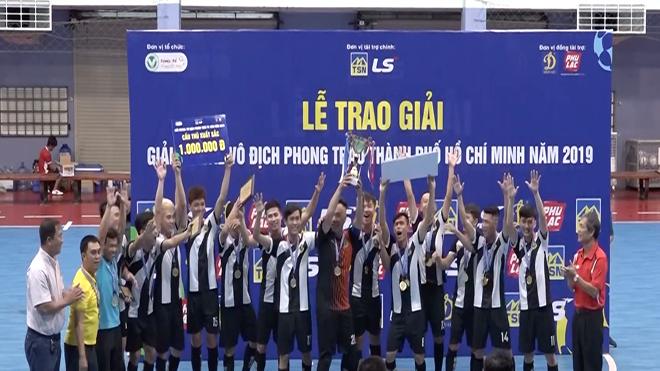 Nhà tân vô địch giải futsal TPHCM 2019. Ảnh: HFF