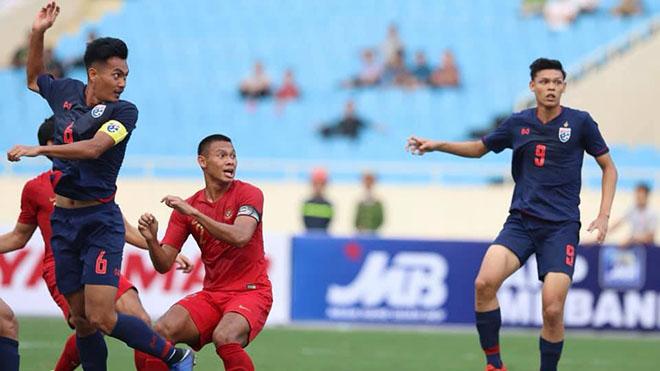 U22 Thái Lan không mạnh như nhiều người nghĩ sau trận mở màn với U22 Indonesia. Ảnh: Hoàng Linh