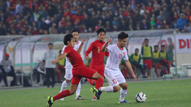 U22 Indonesia đã thua U22 Việt Nam 0-1 hồi tháng 3 năm nay ở Mỹ Đình. Ảnh: Hoàng Linh