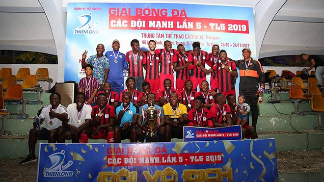 African Team Việt Nam xứng đáng có chức vô địch của giải đấu sân 11 người đẳng cấp nhất Sài thành hiện tại. Ảnh: ĐV