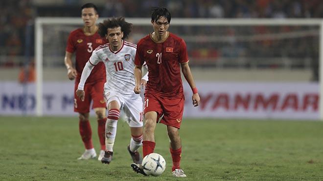 Nếu thắng Thái Lan tối 19-11, Tuấn Anh cùng đồng đội gần như sẽ vào vòng loại cuối cùng World Cup 2022. Ảnh: Hoàng Linh