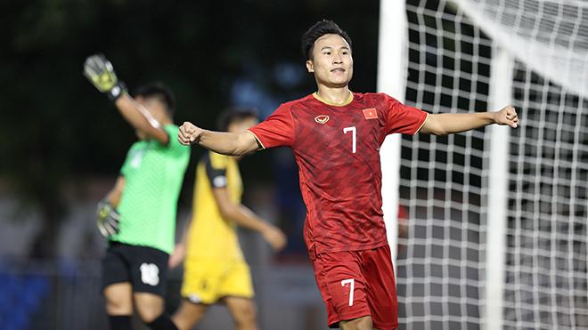 Triệu Việt Hưng là cầu thủ đã ghi bàn duy nhất vào lưới U22 Indonesia ở vòng loại U23 châu Á 2020. Ảnh: Hoàng Linh