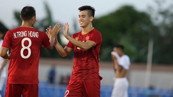 Trọng Hoàng đã có 1 bàn thắng và góp công vào 2 đường chuyền thành bàn cho U22 Việt Nam sau 2 trận đấu. Ảnh: Hoàng Linh