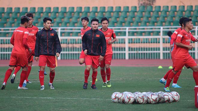 Quang Hải đã tập lại bình thường và sẽ ra sân ở Thái Lan tháng 1 tới. Ảnh: HT