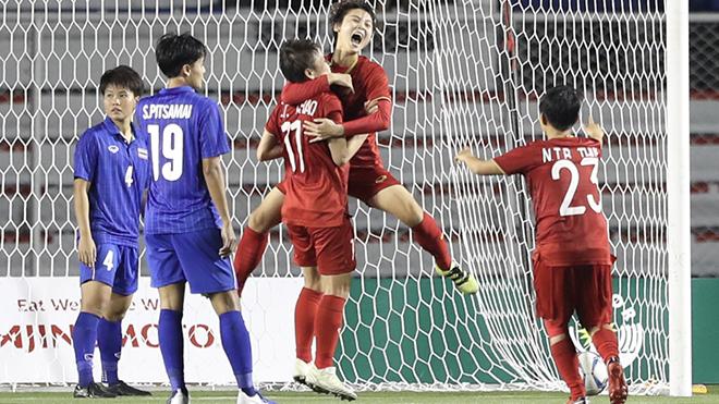 Hải Yến và các đồng đội là cảm hứng cho U22 Việt Nam vô địch SEA Games lần đầu tiên. Ảnh: Hoàng Linh