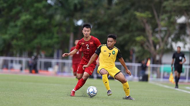 Thanh Thịnh là cầu thủ được HLV Park Hang Seo chọn mang băng thủ quân của U22 Việt Nam ở SEA Games 30. Ảnh: Hoàng Linh