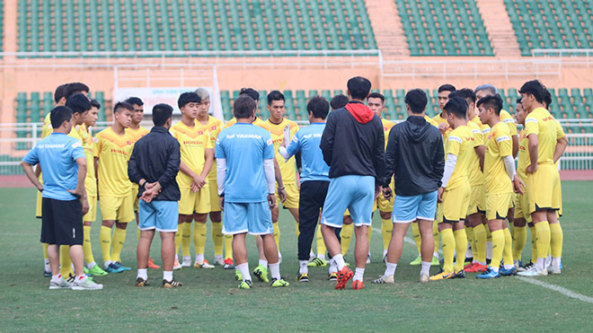 HLV Park Hang Seo sẽ chỉ gút danh sách trước trận ra quân với U23 UAE. Ảnh: TH