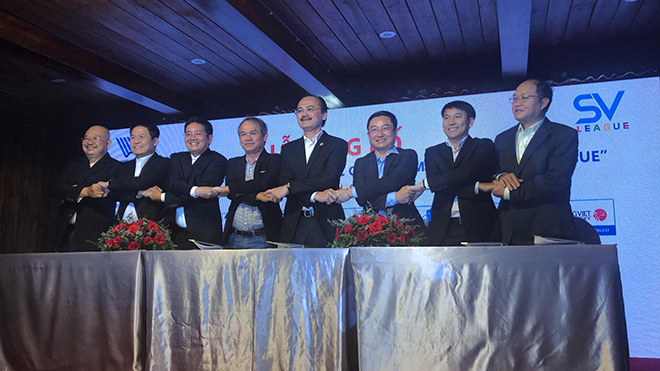 Các ông bầu cùng bắt tay làm nên giải đấu nhiều hứa hẹn cho nền bóng đá