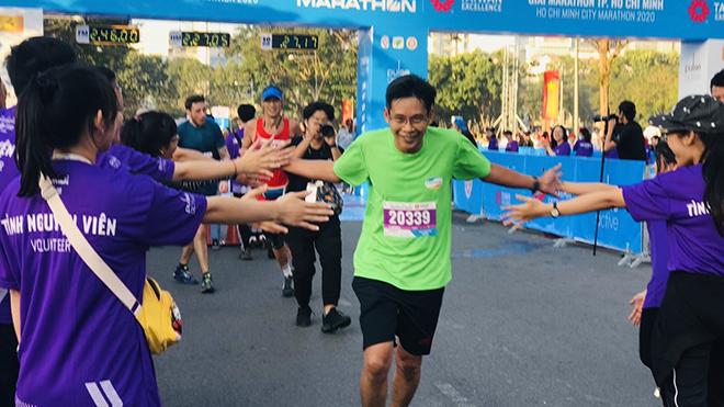 """""""Hơn cả một cuộc đua"""" - thông điệp của giải giúp gắn kết cộng đồng nhờ chạy bộ. Ảnh: BM"""