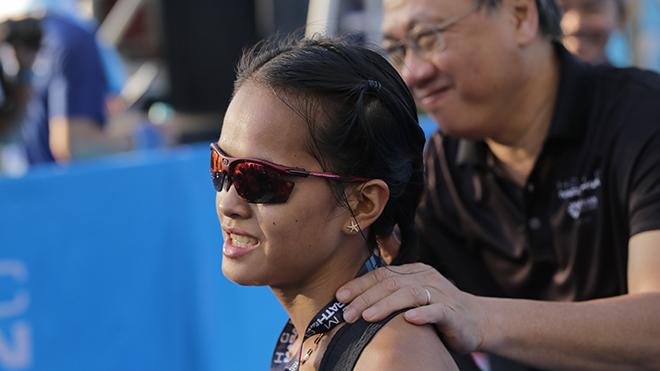 Phạm Hồng Lệ bảo vệ thành công danh hiệu vô địch nội dung Marathon của nữ. Ảnh: BM