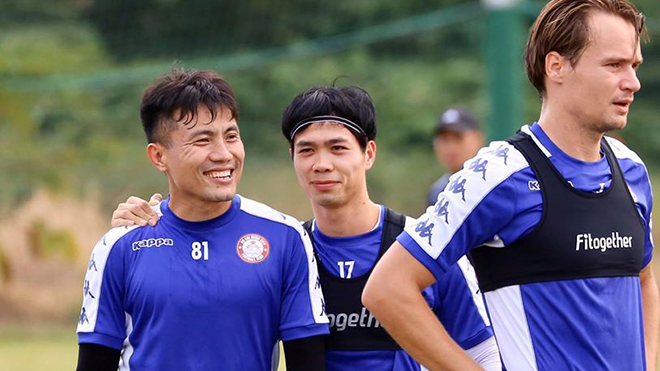 Công Phượng đã nhiều lần phá lưới Hà Nội khi thi đấu ở V-League. Ảnh: TPHCM