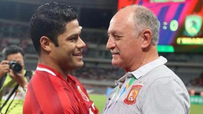Hulk và Scolari - những tên tuổi lớn của bóng đá thế giới có mặt ở Chinese Super League. Ảnh: Sohu