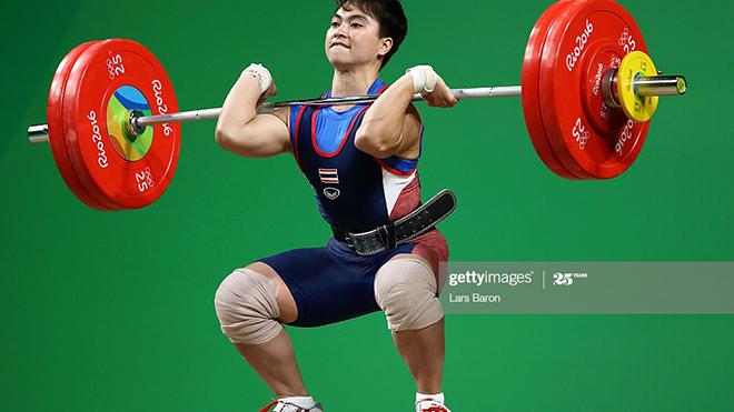 Pimsiri là VĐV cử tạ đẳng cấp thế giới với 2 lần liên tiếp đoạt HCB Olympic gần nhất. Ảnh: Getty