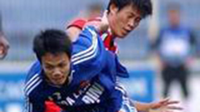 Phan Quý Hoàng Lâm khi còn thi đấu cho Bình Định ở V-Leageu 2005