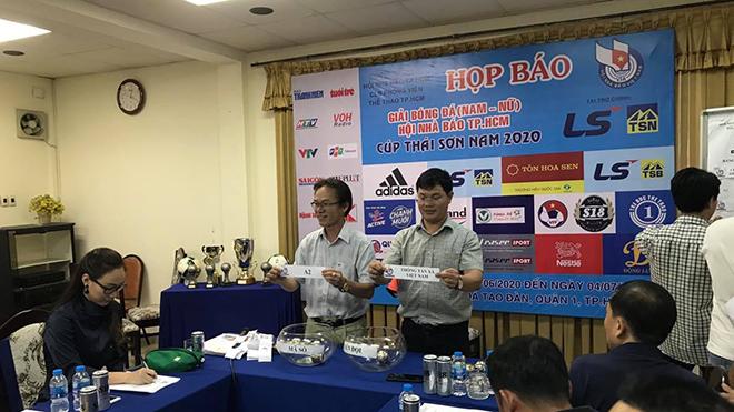 BTC bốc thăm xếp lịch thi đấu vào sáng 17/6 tại trụ sở Hội Nhà Báo TP.HCM