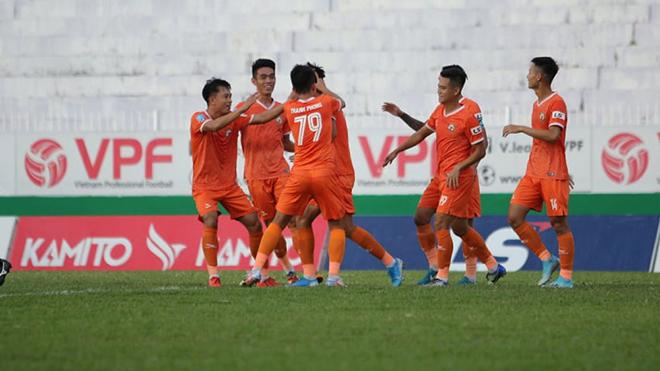 3 điểm chiều 23/7 giúp Bình Định tạm lên vị trí nhì bảng, gây áp lực đáng kể cho các đối thủ TOP đầu. Ảnh: VPF