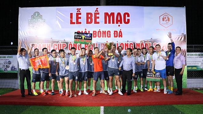 Đội bóng Bảo Long bảo vệ được chức vô địch của giải đấu. Ảnh: BM