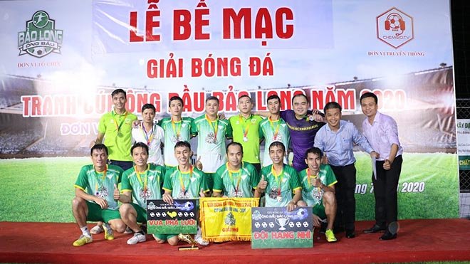 Đội NNC nhận hạng Nhì giải năm nay. Ảnh: BM