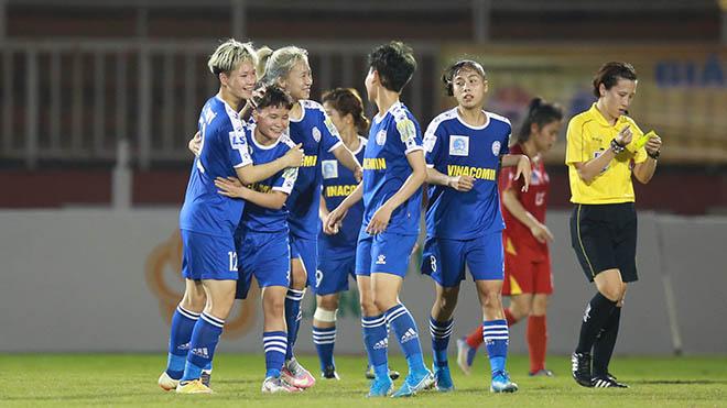 Than khoáng sản Việt Nam bảo vệ được vị trí thứ 3 sau 9 vòng đấu với 19 điểm. Ảnh: AP