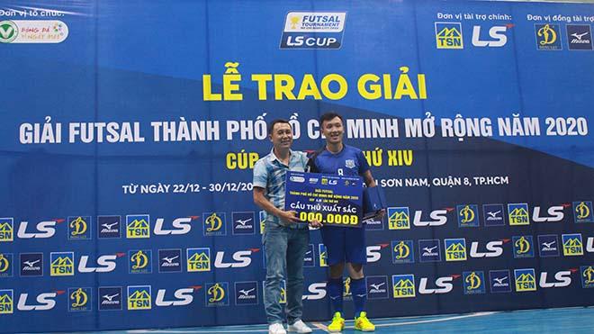 Minh Trí hướng tới danh hiệu Quả bóng vàng futsal 2020 sau một năm nhiều thành công. Ảnh: LV