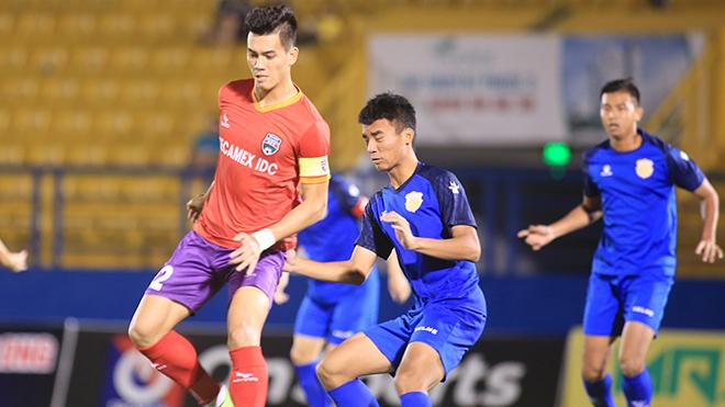 Tiến Linh đã trở về B.Bình Dương và ra sân ở giải tập huấn trên sân nhà chuẩn bị cho mùa giải mới. Ảnh: TLa