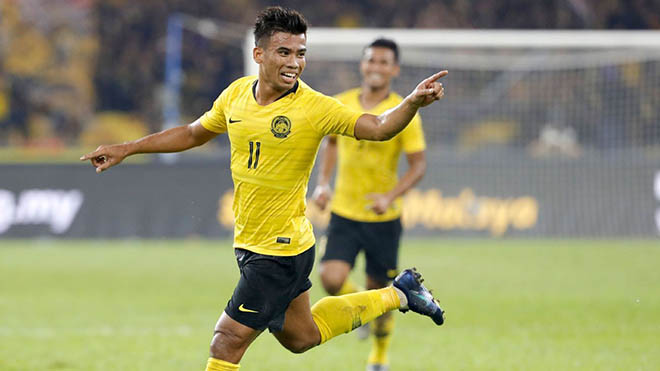 Safawi Rasid là chân sút được người Malaysia kỳ vọng lớn ở vòng loại World Cup 2022. Ảnh: JHT
