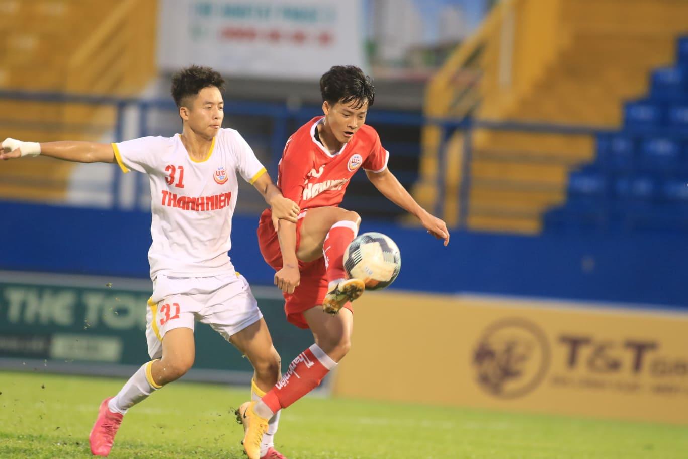 Thanh Nhàn có thể bước ra ánh sáng từ VCK U19 QG 2021 với cú hat-trick ở chung kết. Ảnh: Anh Đồng