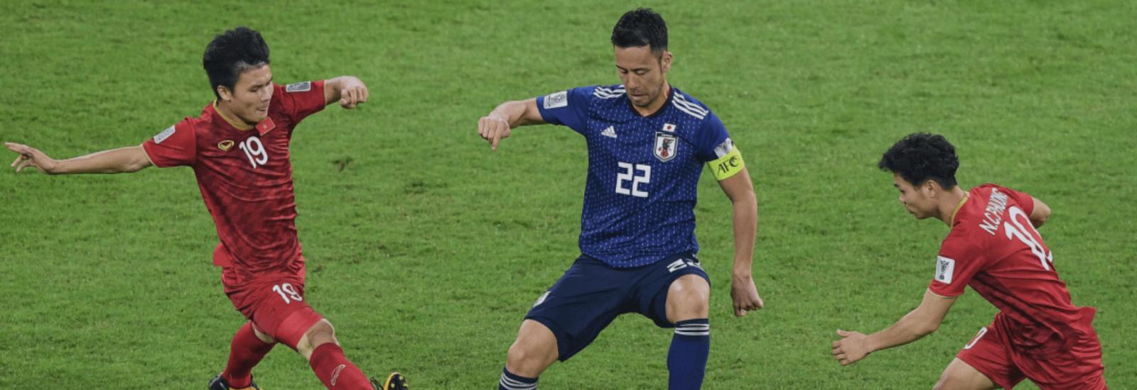 Đội trưởng Yoshida của Nhật Bản trong trận tứ kết Asian Cup 2019 với Việt Nam. Ảnh: FIFA