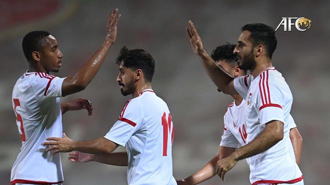 UAE đã ghi 12 bàn thắng sau 3 trận gặp Malaysia, Thái Lan và Indonesia. Ảnh: AFC