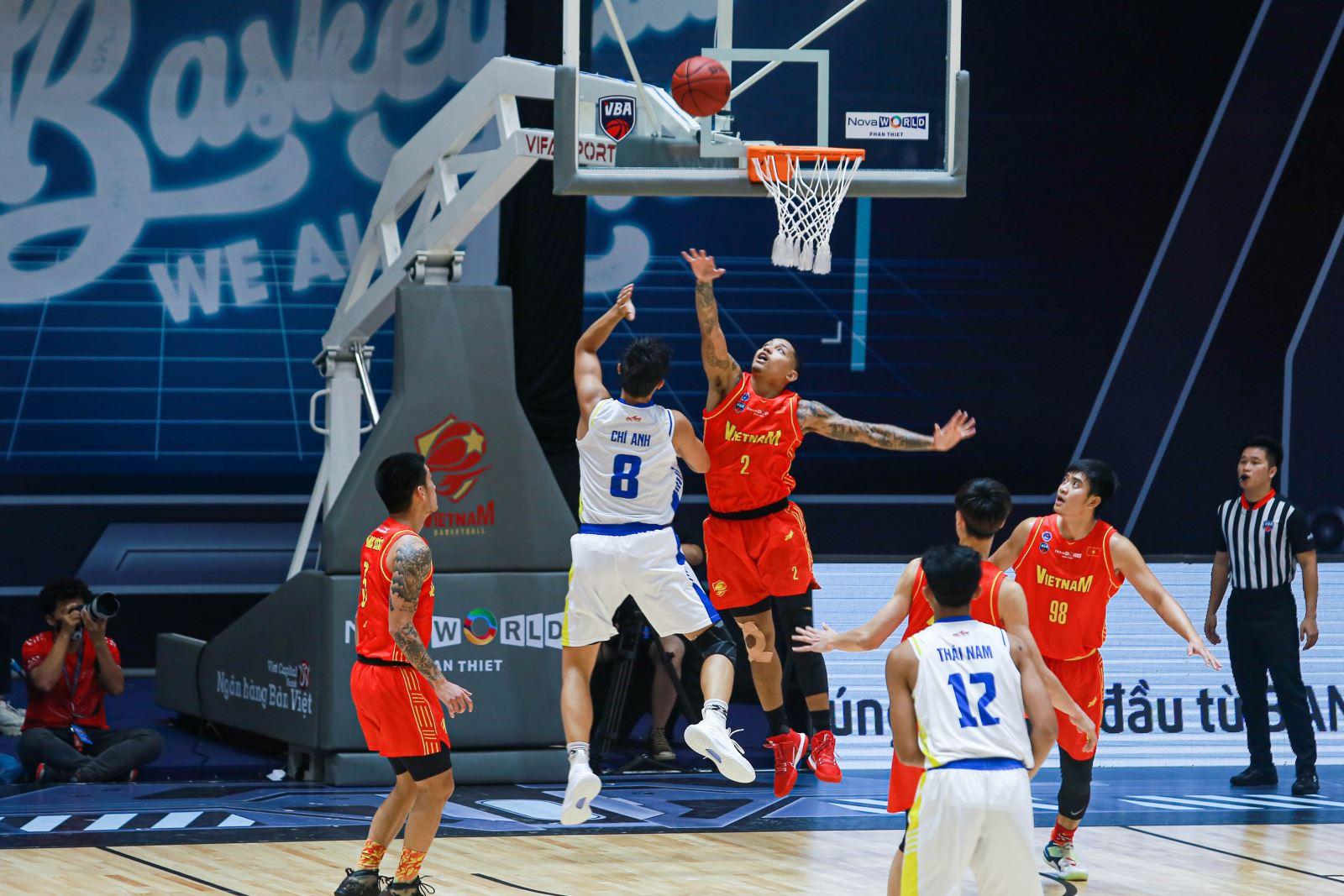 Đội tuyển bóng rổ Việt Nam có cơ hội chinh phục thành tích cao ở SEA Games 31. Ảnh: VBF