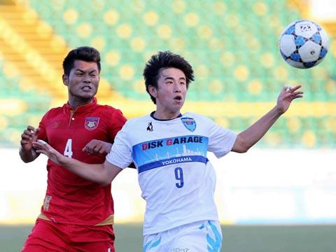 U21 Yokohama đánh bại U21 Myanmar 5-0 chiều 18/12. Ảnh: Anh Lập