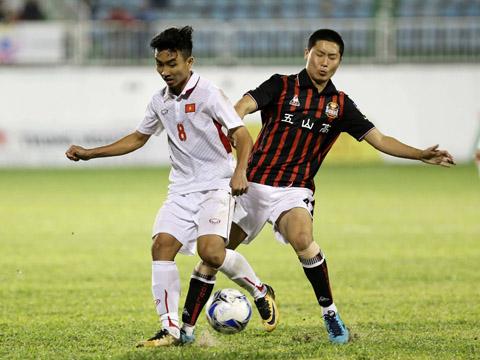 Công Minh là tài năng lớn của bóng đá trẻ Việt Nam hiện tại. Ảnh: Anh Lập