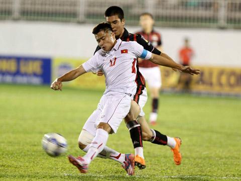 U19 tuyển chọn Việt Nam chơi ấn tượng dưới sự dẫn dắt của HLV Vũ Hồng Việt. Ảnh: Anh Lập