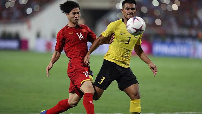 Các ĐTQG Việt Nam có mặt Công Phượng chưa hề thua Malaysia khi đối đầu. Ảnh: Hoàng Linh