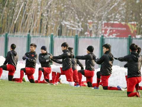 U23 Việt Nam đang nhận được rất nhiều sự khích lệ từ quê nhà. Ảnh: Nhật Đoàn