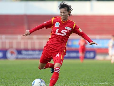 Thùy Trang được đề cử giải Fair Play cho hành động đầy ý nghĩa trước SEA Games 29. Ảnh: Quang Liêm