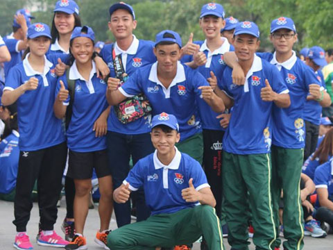 Các VĐV được khích lệ tinh thần đáng kể trước thềm SEA Games 29. Ảnh: Nam Trung