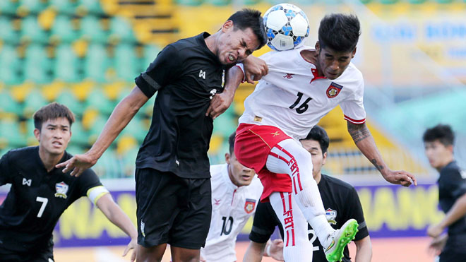 Thái Lan bị Myanmar đánh bại tại giải U21 quốc tế