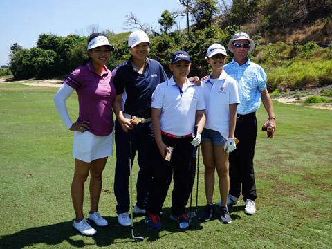 Brianna Đỗ mơ một ngày được làm rạng danh golf Việt Nam. Ảnh: BM