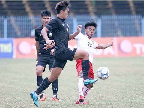 U21 Myanmar với nhiều cầu thủ độ tuổi U19 rất có tiềm năng trong tương lai. Ảnh: Dương Thu