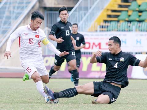 U19 Việt Nam cách chiến thắng trước U21 Thái Lan đúng 50 giây. Ảnh: Dương Thu
