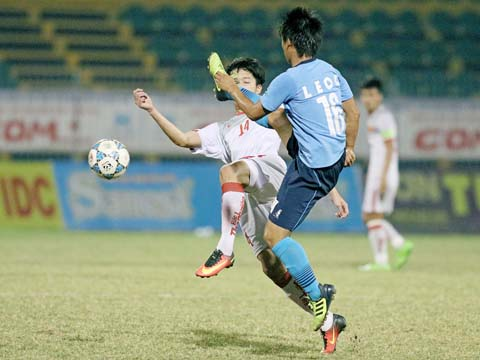 U21 Yokohama (áo xanh) khiến phần còn lại phải chào thua ở giải U21 Quốc tế với phong độ vô cùng ấn tượng. Ảnh: Dương Thu