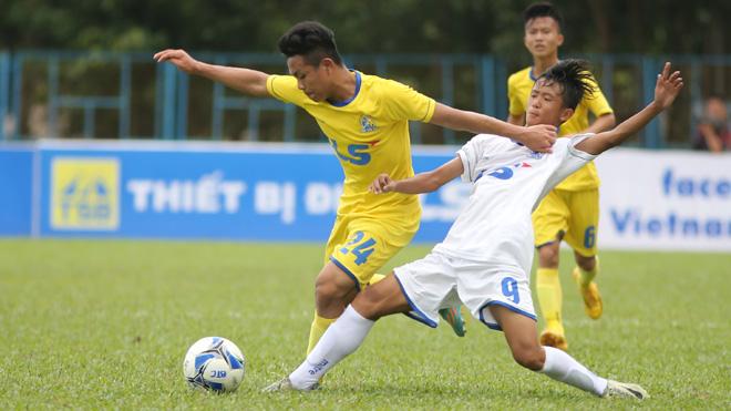 Thắng đậm HAGL, SLNA vào bán kết giải U15 quốc gia Cúp Thái Sơn Bắc 2017