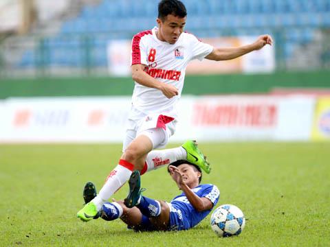 Chơi không hay ở đội 1 nhưng Hoàng Thanh Tùng đang tỏa sáng ở U21 HAGL. Ảnh: Anh Hòa