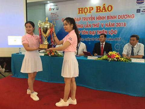 Giải xe đạp Bình Dương mở rộng 2018 là giải đấu lớn nhất thuộc hệ thống xe đạp phong trào Việt Nam 2018. Ảnh: CT