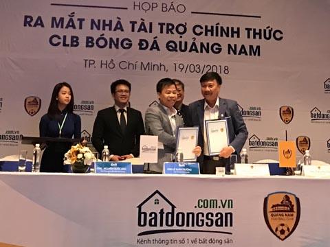 Quảng Nam công bố nhà tài trợ chính thức sáng 19/3 tại TP.HCM. Ảnh: Bình Minh
