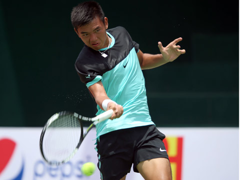 Lý Hoàng Nam được kỳ vọng làm nên lịch sử cho quần vợt Việt Nam ở SEA Games 29. Ảnh: Quang Liêm