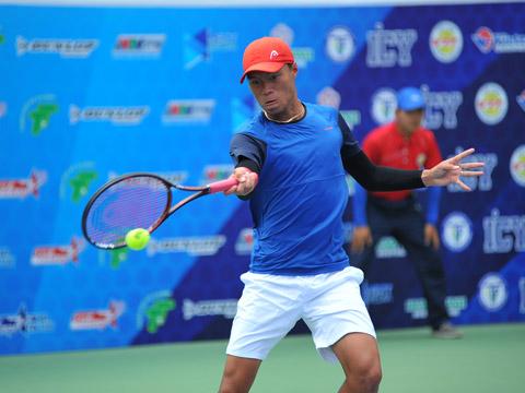 Minh Tuấn khẳng định vị thế số 1 quần vợt Việt Nam khi thiếu vắng Lý Hoàng Nam. Ảnh: VT